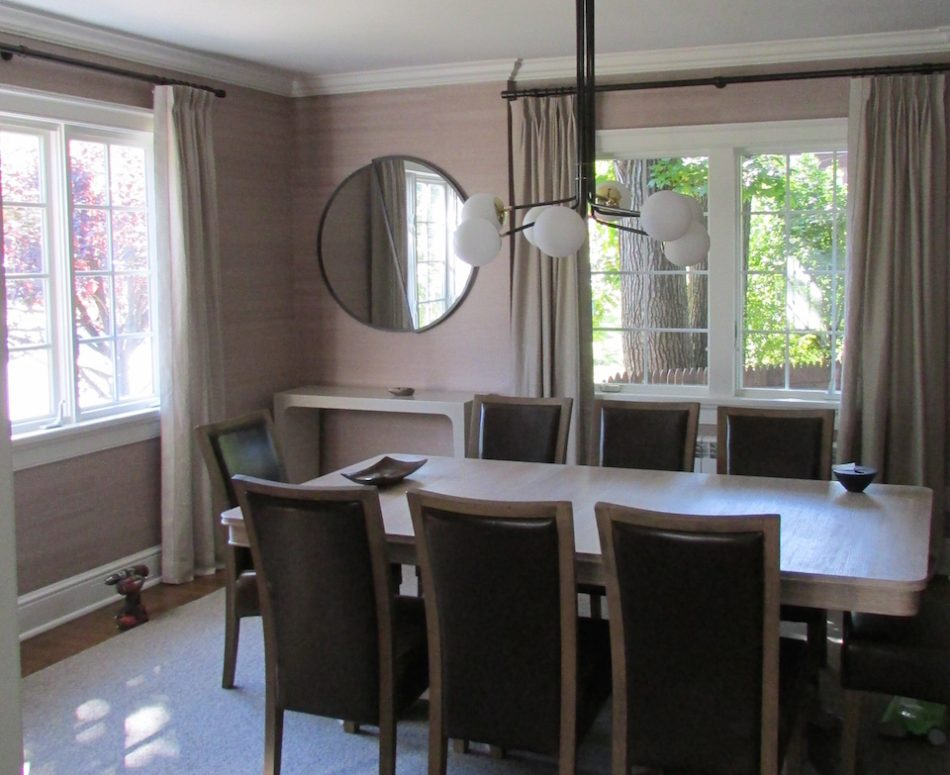 Window Drapes We Recently Installed In A Beautiful Dining Room