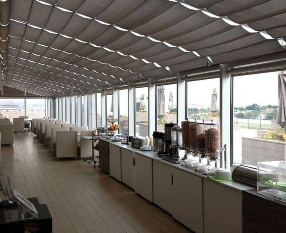1-Motorized-Skylight-Shades-for-The-Buffet-Restaurant-College-Point high rise building buffet-restaurant-nightclub